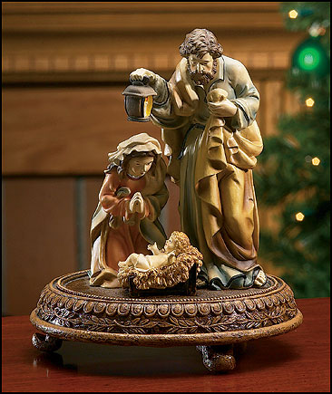 Matteo Nativity with Round Base