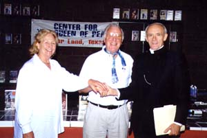 Paddy Nolan with Bishop Edmond Carmody