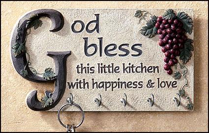 God Bless This Kitchen Key Holder
