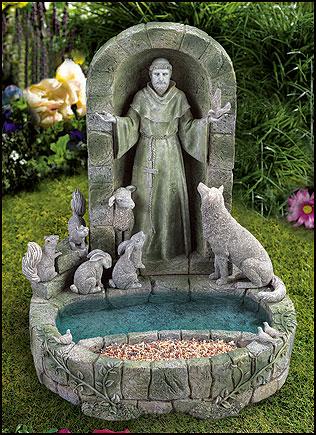 Charming Nativities, Sculptures, Bird Feeders, Garden Statues, Crucifixes, Wall  Fountains