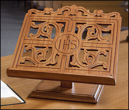 Bible Missal Stand With Storage Compartment