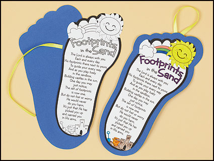 bible arts and crafts ideas color your own footprints poem color your own footprints poem 5942