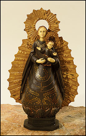 Our Lady Of The Rosary Santos Statue