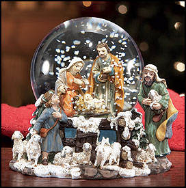 Nativity Waterglobes For Christmas Holiday
