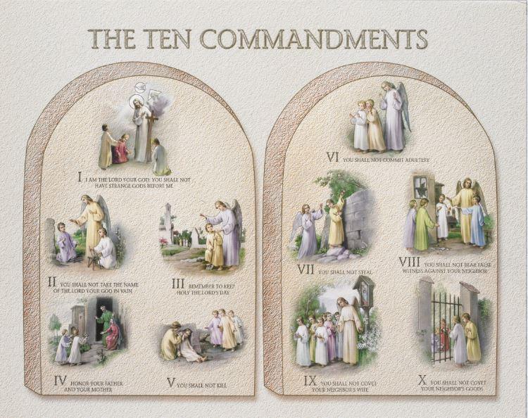 Ten Commandments Plaques
