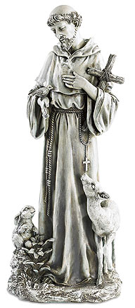 St Francis With Deer And Rabbit Figurine Item Number