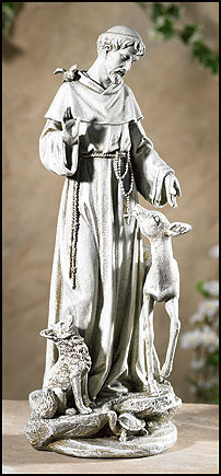 Saint Francis With Deer Statue