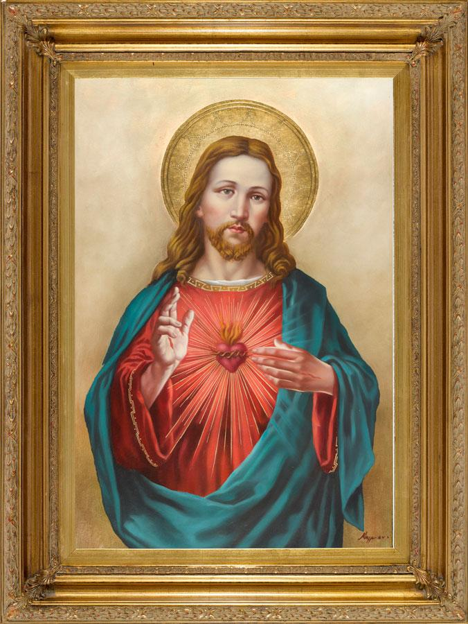 Sacred Heart Of Jesus Oil Canvas Painting