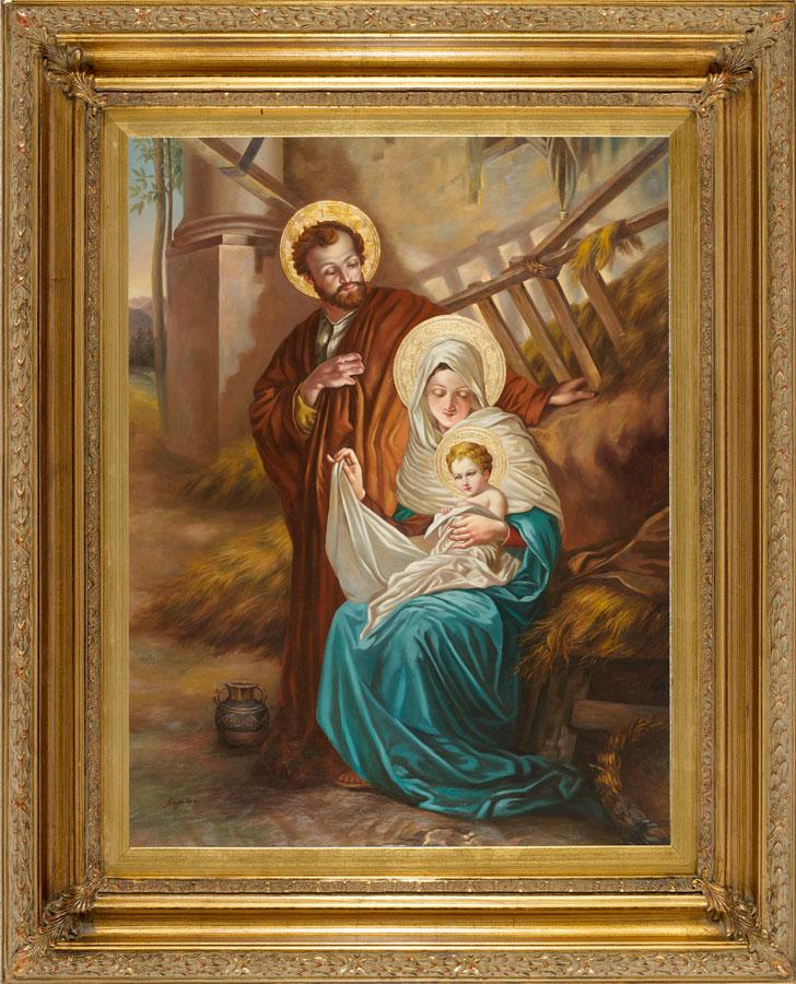 Nativity Oil Canvas Painting