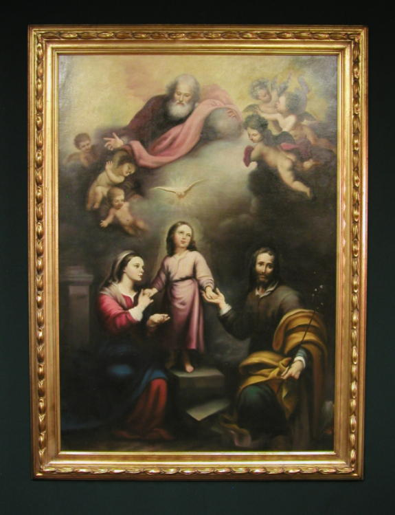 Holy Family Reproduction From The Original By Murillo Hand