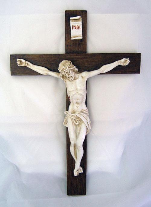 Crucifix In Antiqued Alabaster 15 Quot