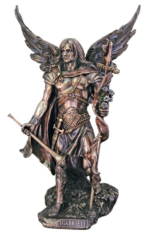 St Michael The Archangel Without The Devil Bronze Statue