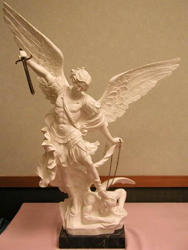 1545 W St Michael Statue