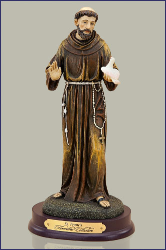 "St Mary Of The Mount >> 15"" ST. FRANCIS FLORENTINE STATUE"