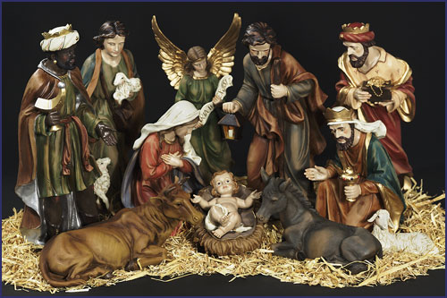 15 Quot 11pc Resin Nativity Set