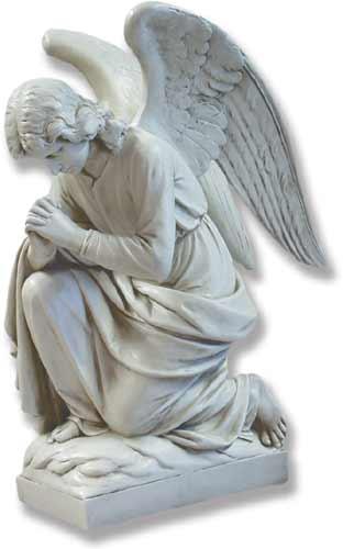kneeling angel praying catholic religious statues