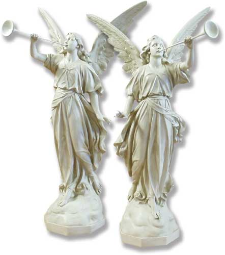 "Angels Trumpet Set 64"" Statue"
