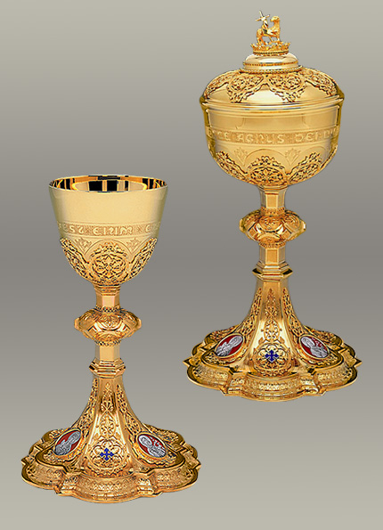 the holy family chalice and ciborium