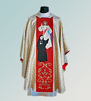 Divine Mercy and Saint Faustyna Hand Embroidered Chasuble